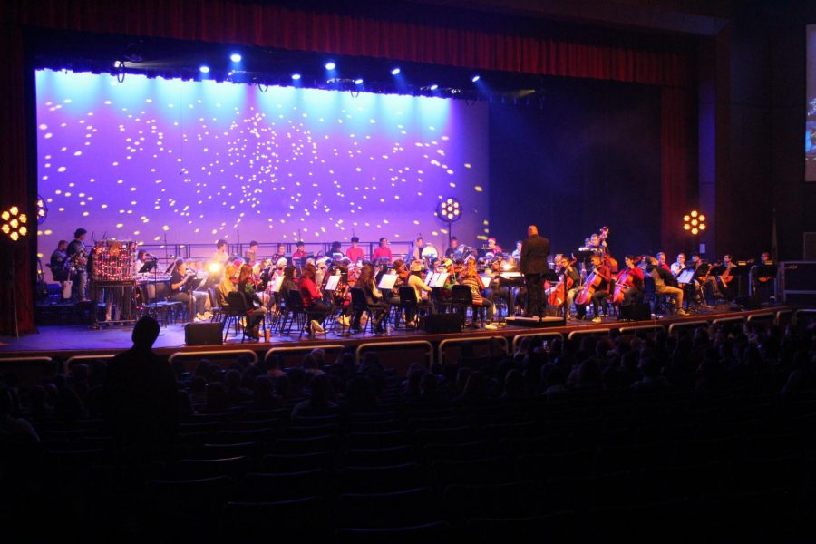 Various ensembles of the music department come together for winter concert
