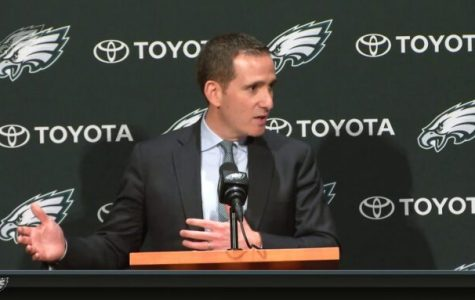 Eagles General Manager Howie Roseman at his January 9 press conference.