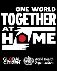 "The poster for the ""One World: Together at Home"" concert on April 18, 2020."