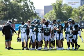 A photo taken during the Eagles' limited 2020 training camp.