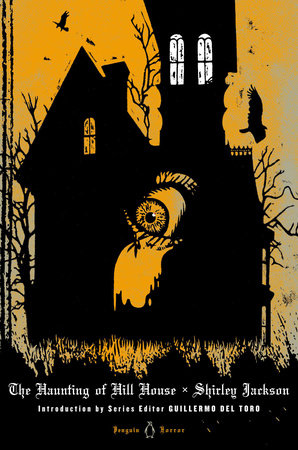 "The cover of the book, ""The Haunting of Hill House"" by Shirley Jackson."