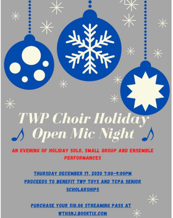 The poster for this year's modified holiday festivities from WTHS' Choir.