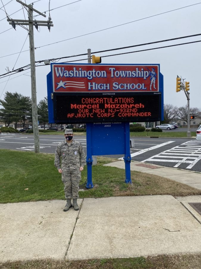 New NJ932nd AFJROTC Corps Commander, Marcel Mazahreh