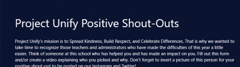 The header of the Microsoft Form used to submit Positivity Shout-outs.