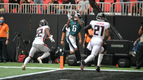Eagles rout Falcons for first win